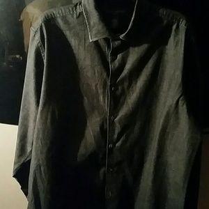 Black wash denim casual shirt